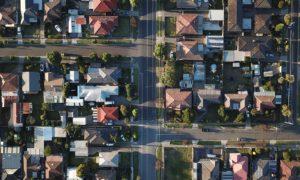 Neighborhood from bird's eye view.